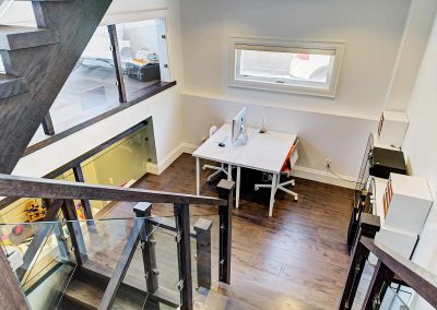 Oakville Architecture Photography Video | Lower-Level-Office-and-Stairs
